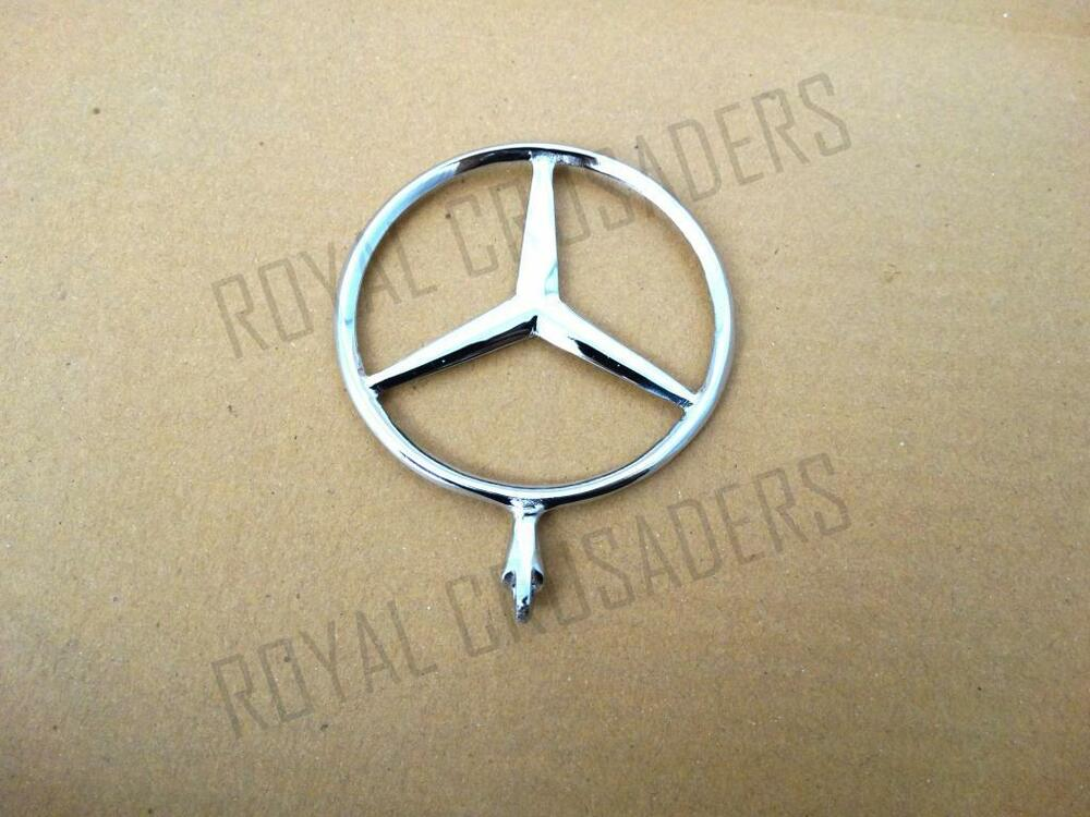 Brand new mercedes front bonnet badge pummy ebay for Mercedes benz bonnet badge