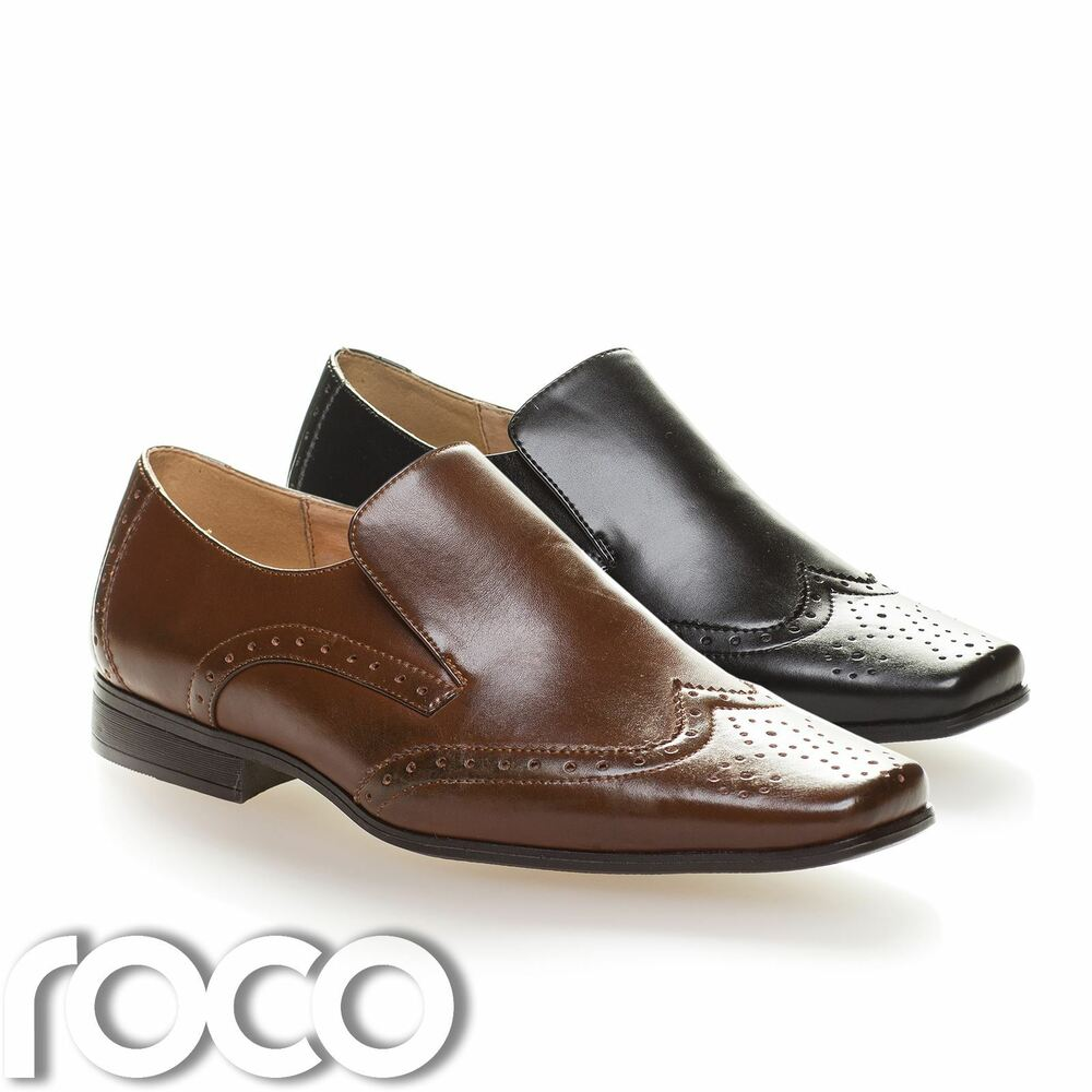 boys brogues boys slip on shoes boys black shoes boys