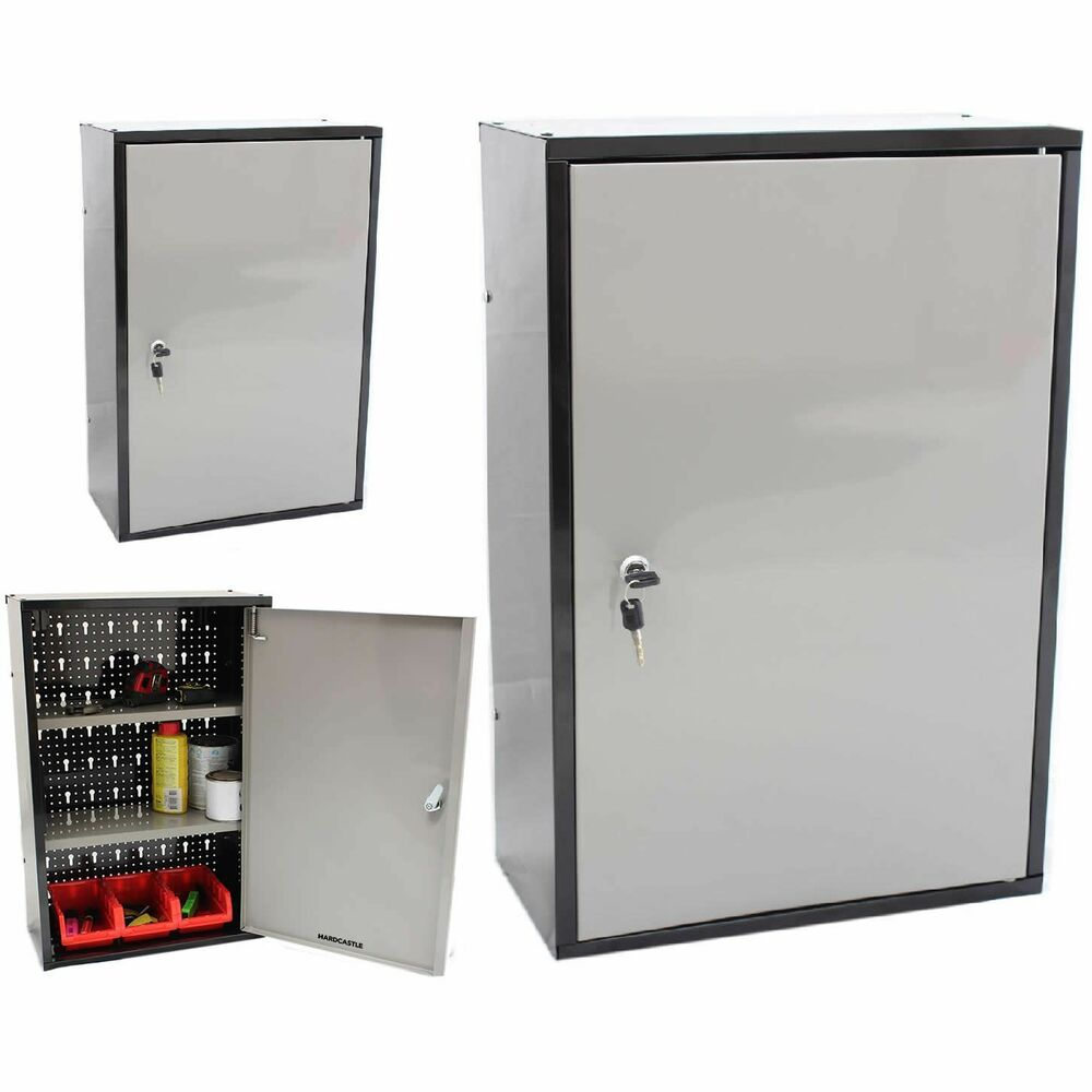 Lockable Metal Garage Shed Storage Cabinet Wall Unit Tool