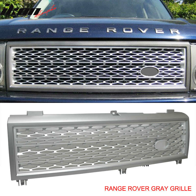 03 Land Range Rover Gray Silver Front Hood Grill Grille