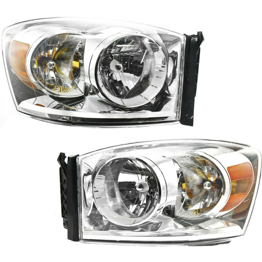 headlight set for 2007 2009 dodge ram 1500 ram 2500 left. Black Bedroom Furniture Sets. Home Design Ideas