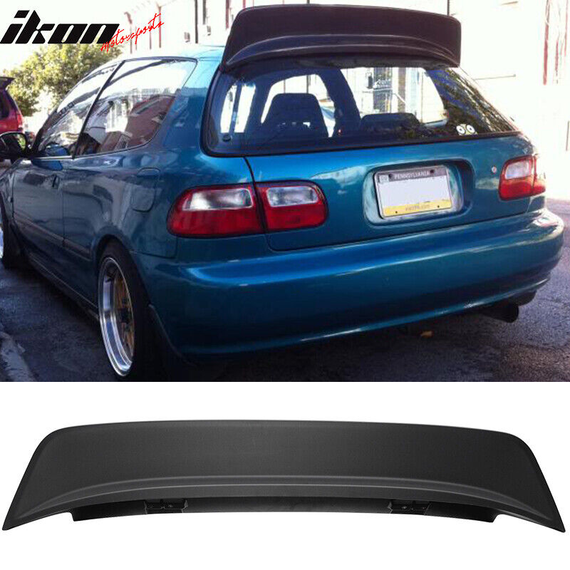 Civic Hatch: 92-95 Honda Civic EG 3Dr Hatchback ABS Black JDM BYS Style