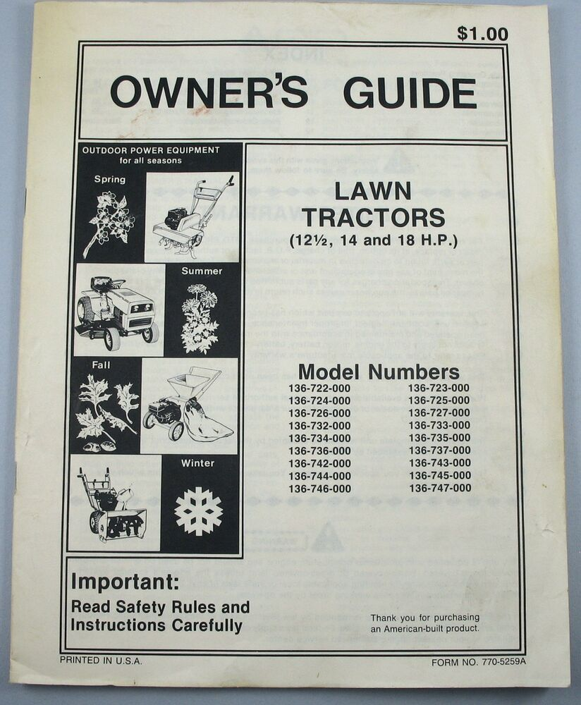 murray lawn mower owners manual