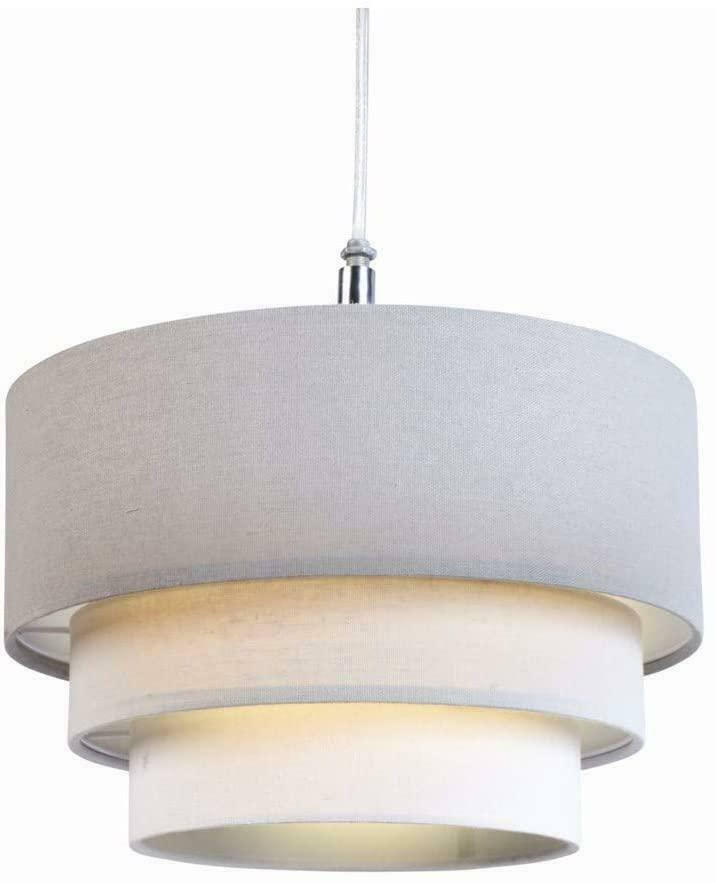 Ceiling Lights Grey : In cm tier cotton fabric ceiling lampshade pendant