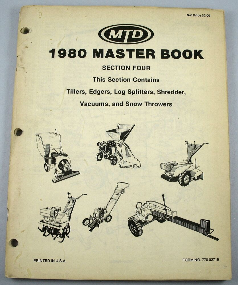 Mtd Parts Catalog : Mtd master book section four miscellaneous