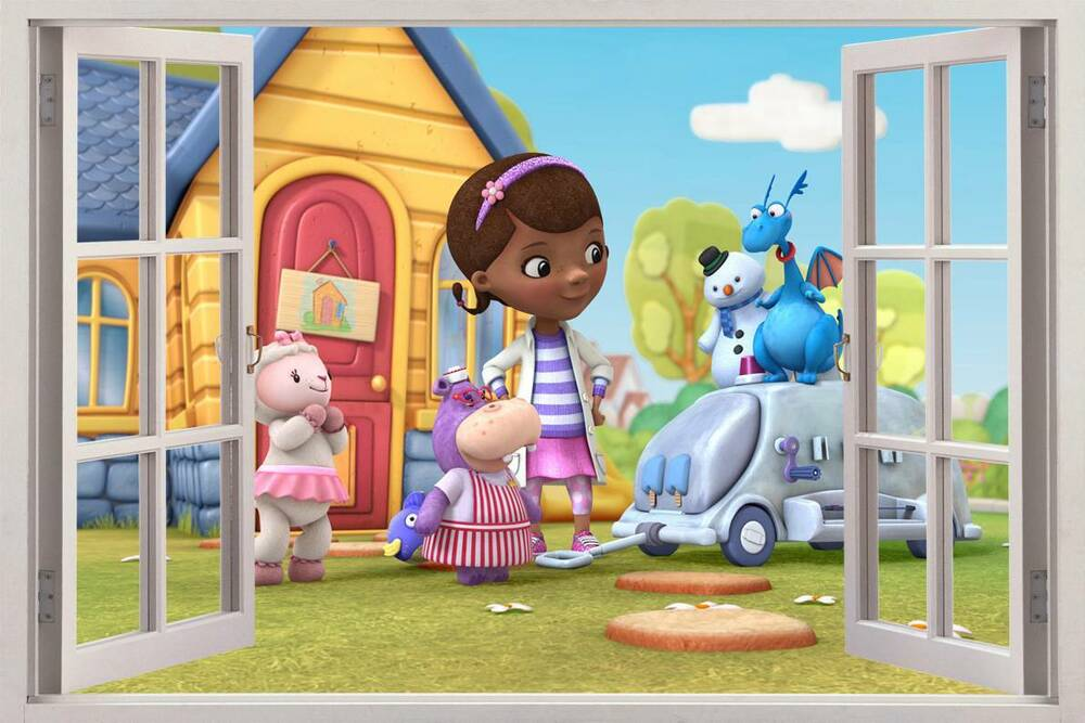 doc mcstuffins disney 3d window view decal wall sticker 15191 | s l1000