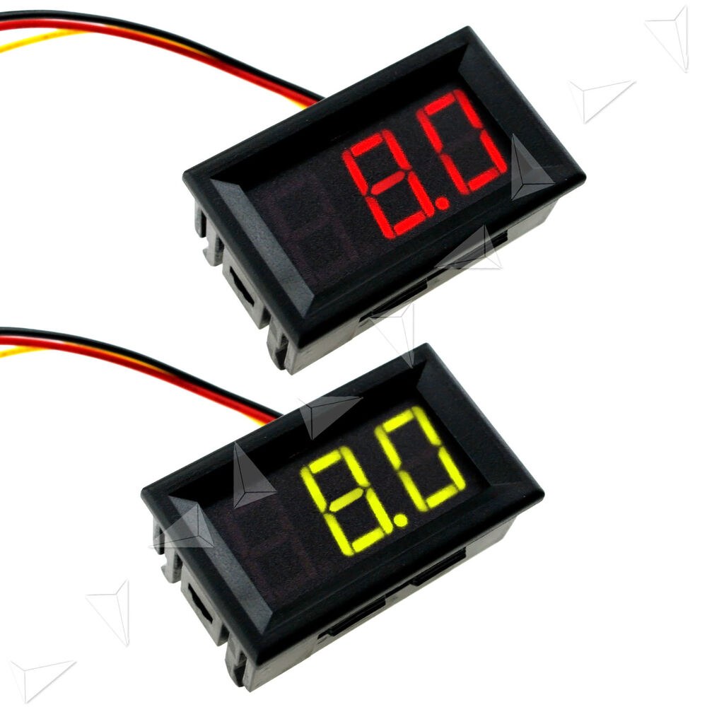 Digital Volt Meter : Car motor red green led digital display volt meter voltage