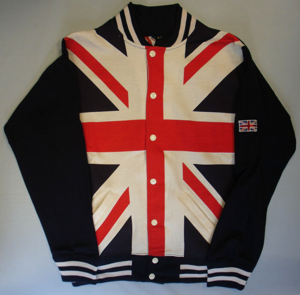 Adults Mens Union Jack Flag Print Baseball Style Jacket ...