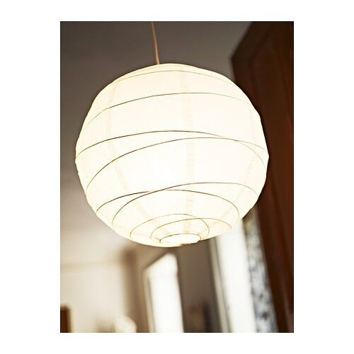 ikea regolit pendant lamp shade only white rice paper ebay. Black Bedroom Furniture Sets. Home Design Ideas