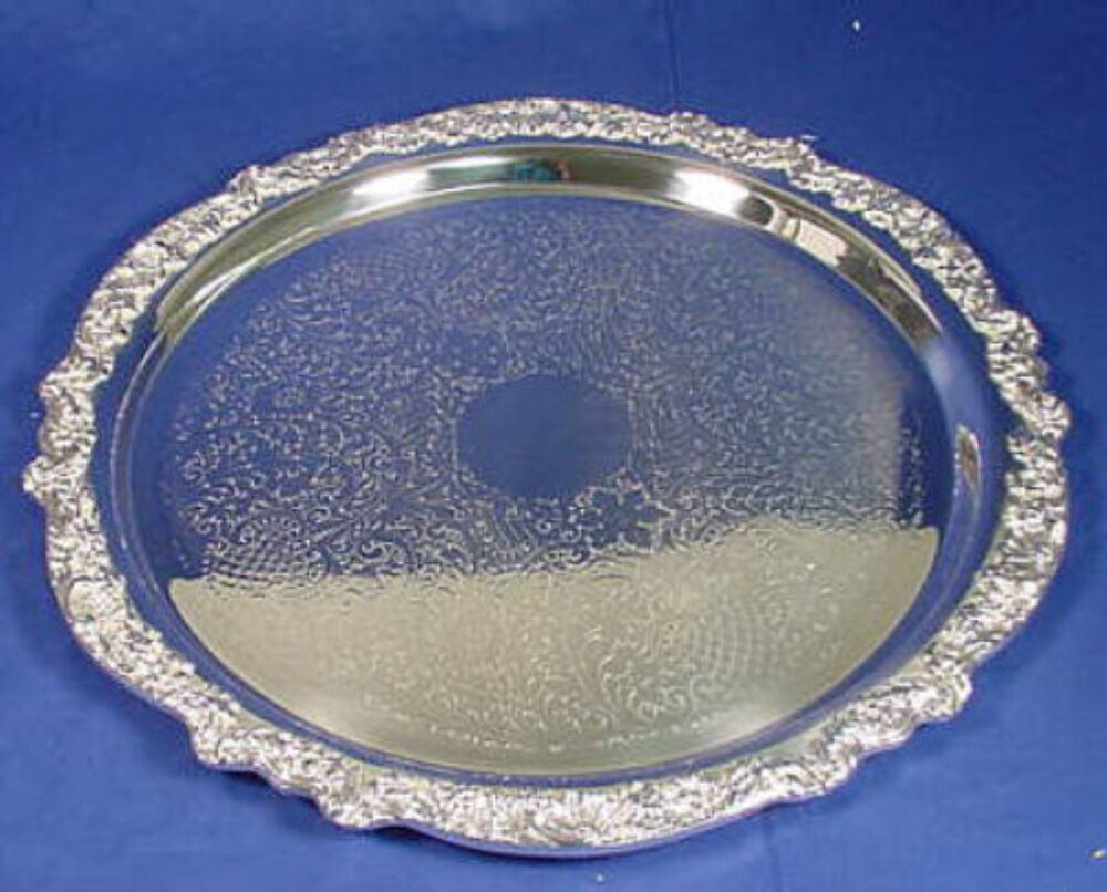 "Antique F.B. ROGERS HEAVY 19"" Silver Plated Serving Tray ..."