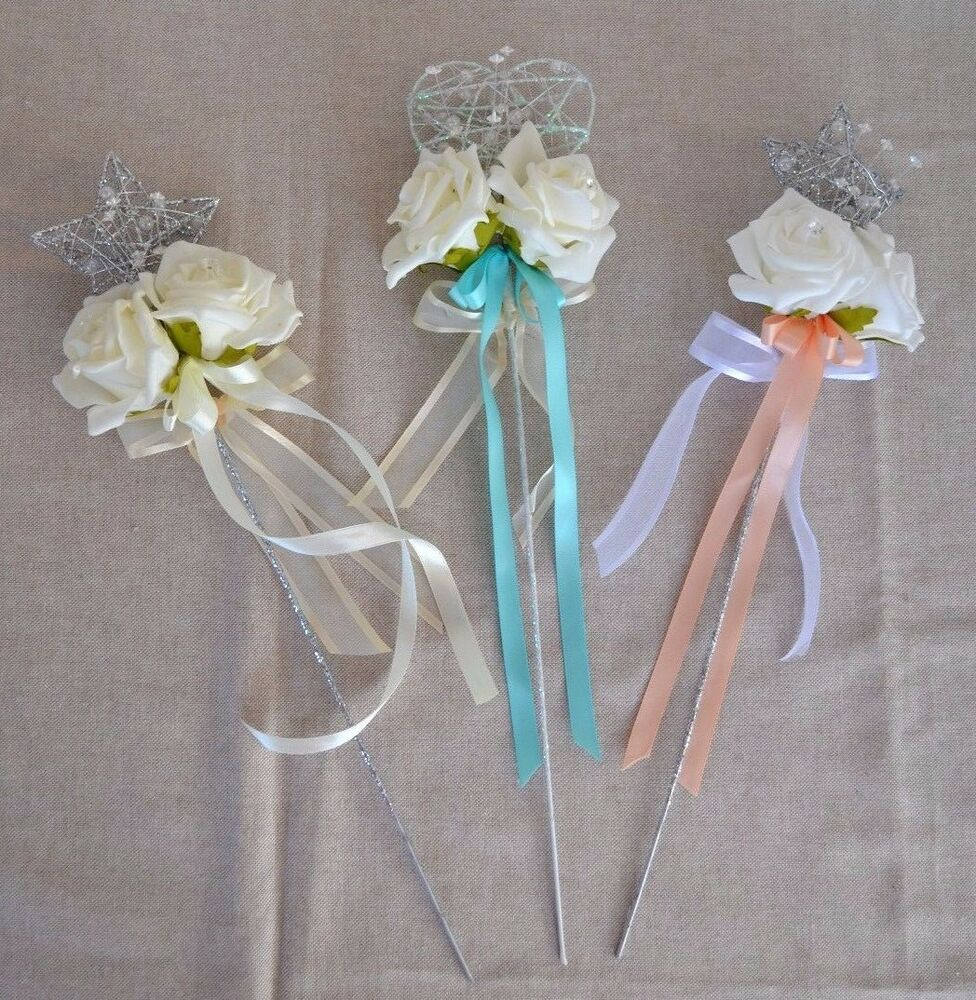 Real Fairytale Weddings Silver Spring Md: Beautiful Heart Or Star Wand Flower Girl Bridesmaid