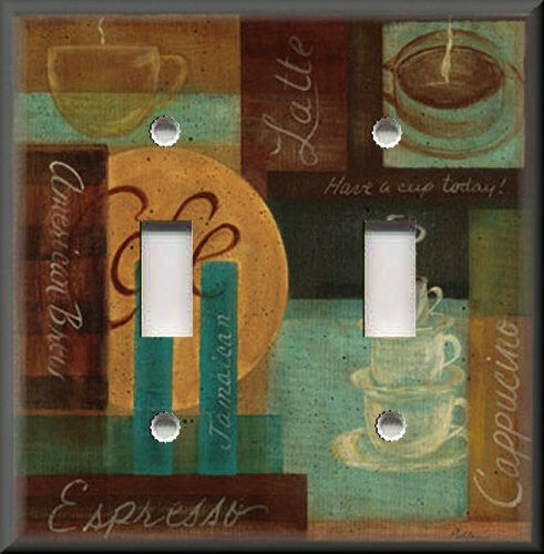 Light Switch Plate Cover Cafe Coffee Kitchen Decor