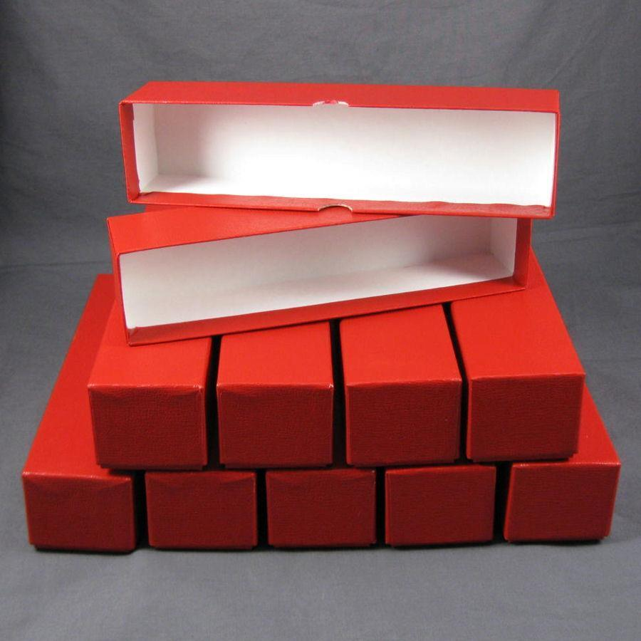 10 Red Storage Boxes For 2x2 Coin Holders And Flips (2x2x9