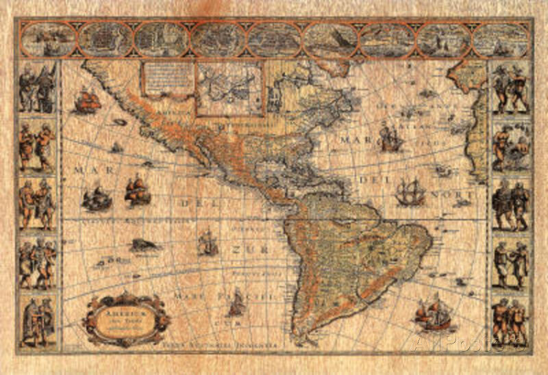 Old World Map Photo 2 Art Print POSTER lithograph Poster Print 19x13 eBay