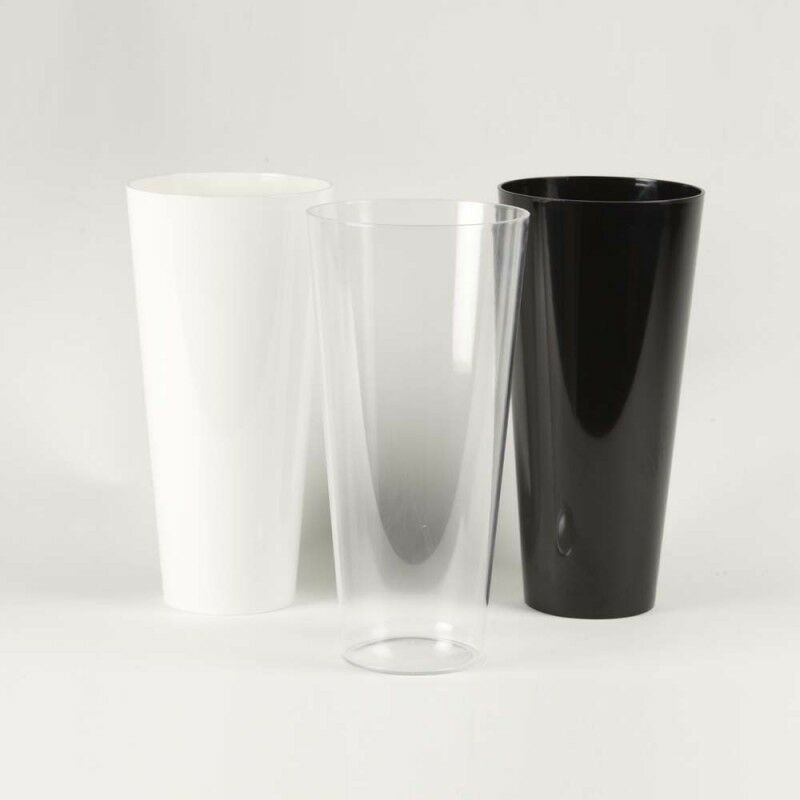 conical acrylic vase durable lightweight plastic display container oasis florist ebay. Black Bedroom Furniture Sets. Home Design Ideas