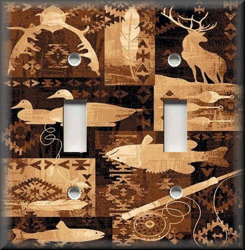 light switch plate cover rustic cabin home decor deer