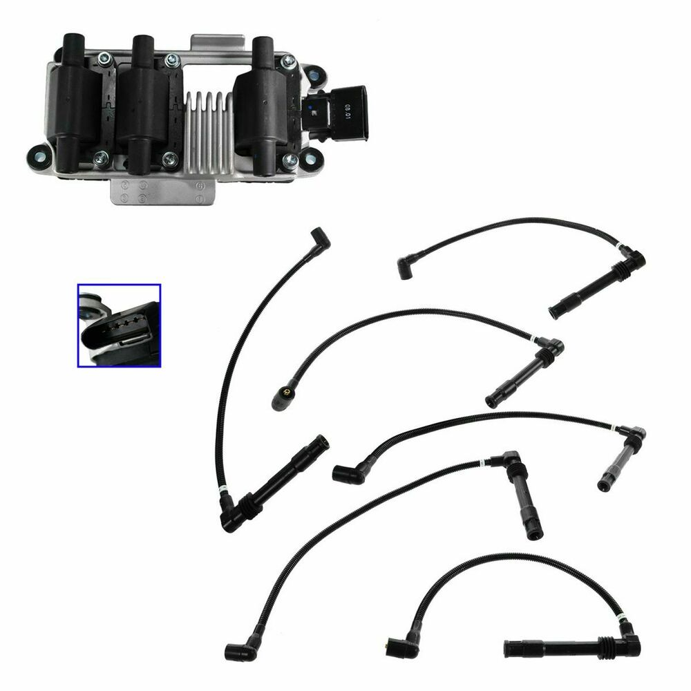 Spark Ignitor Cable : Ignition coil spark plug wire set kit for audi a vw