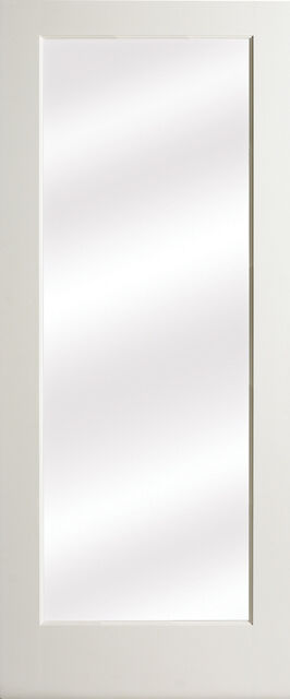 1 lite clear glass primed mdf solid interior french doors - Solid wood french doors interior ...