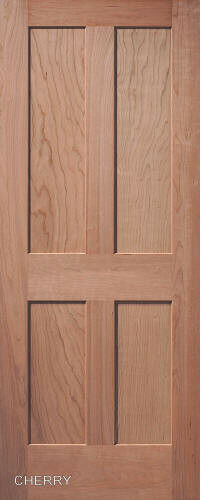 4 Panel Interior Doors : Panel flat mission shaker stain grade cherry solid