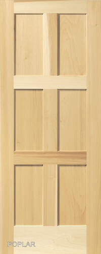 6 panel poplar equal flat mission stain grade solid core interior wood doors ebay 6 panel hardwood interior doors