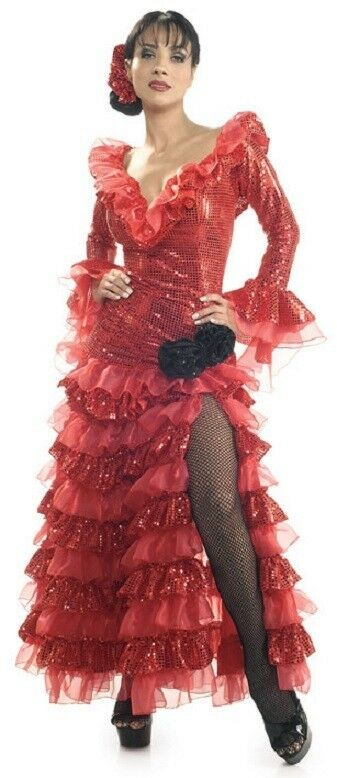 red senorita spanish lady salsa dancer fancy dress up
