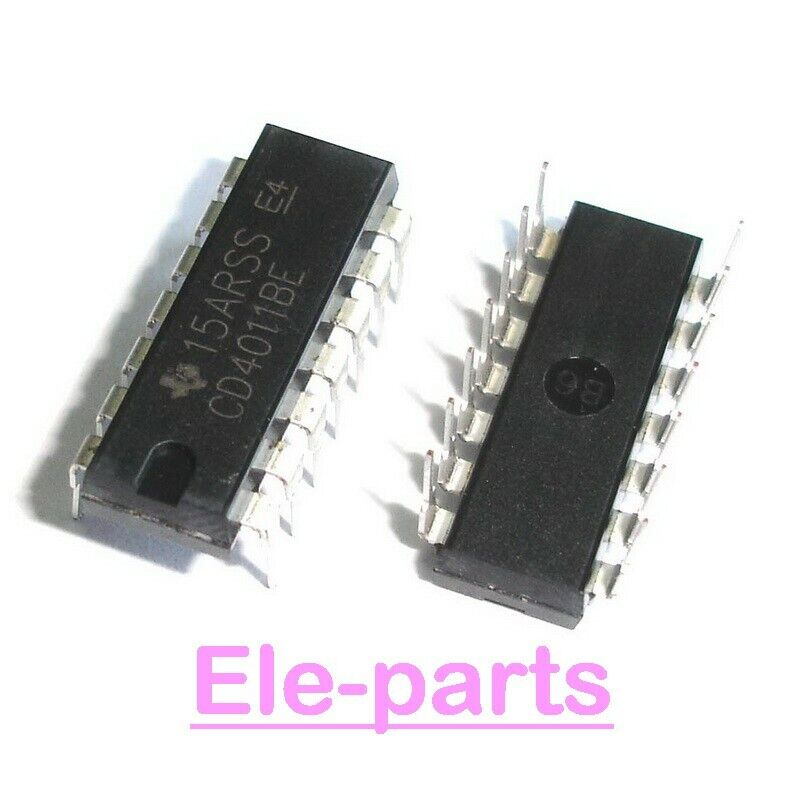 20 Pcs Cd4011be Dip 14 Cd4011 Cmos Nand Gates New Ebay