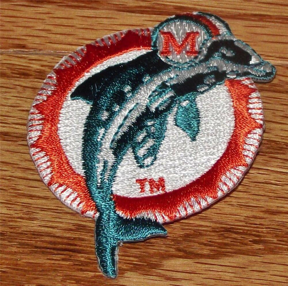 Miami dolphins embroidered polo size patch 2 5 x 2 new for Embroidered polo shirts miami