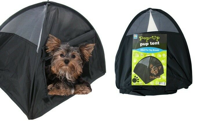 pop up puppy tent for traveling or camping 14 small dog puppy brand new ebay. Black Bedroom Furniture Sets. Home Design Ideas