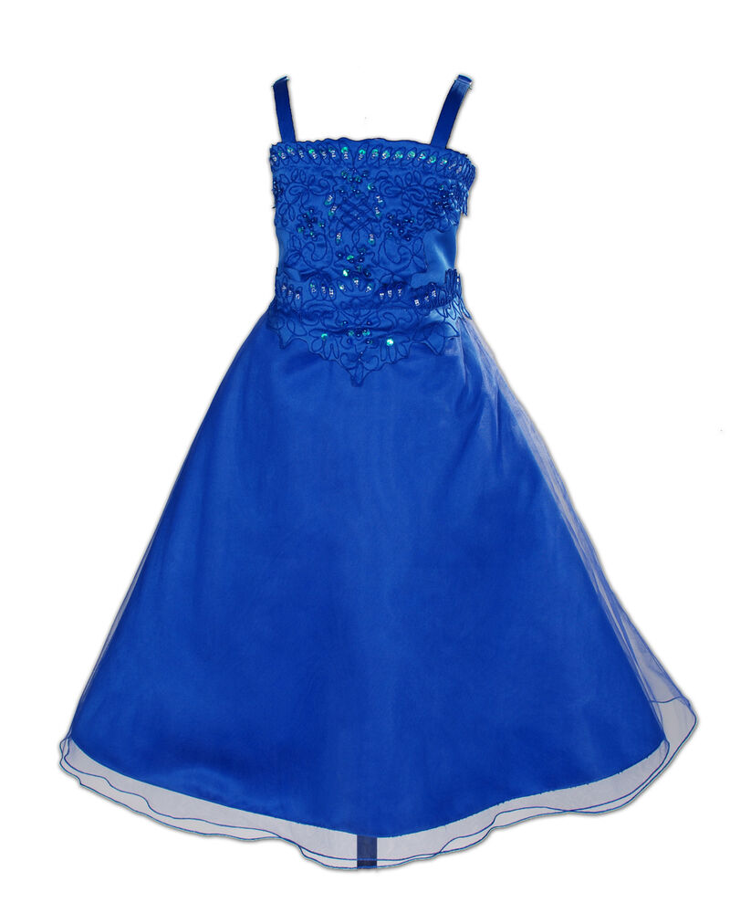 new dark blue bridesmaid party flower girl dress 56 years