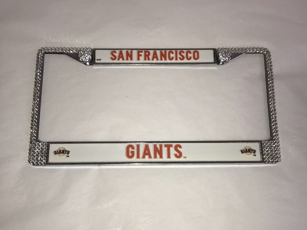 San Francisco Giants Bling License Plate Frame Made With