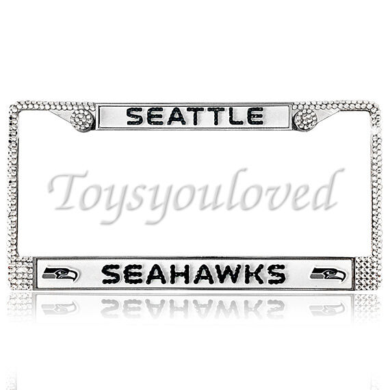 Seattle Seahawks Football Bling License Plate Frame Made