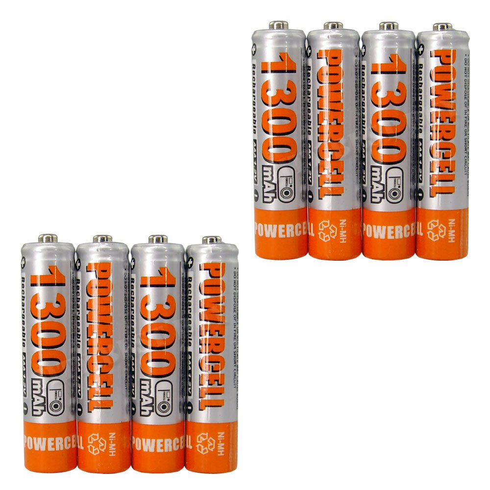 8x aaa 3a cell 1300mah 1 2v nimh recharge rechargeable battery ebay. Black Bedroom Furniture Sets. Home Design Ideas