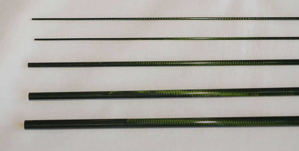 Im6 4 pc 3 wt 9 ft fly rod blank translucent green 2 for Fishing rod blank