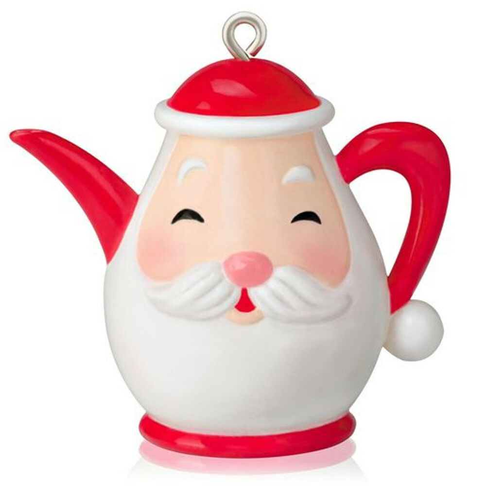 Hallmark santa s little teap pot miniature ornament