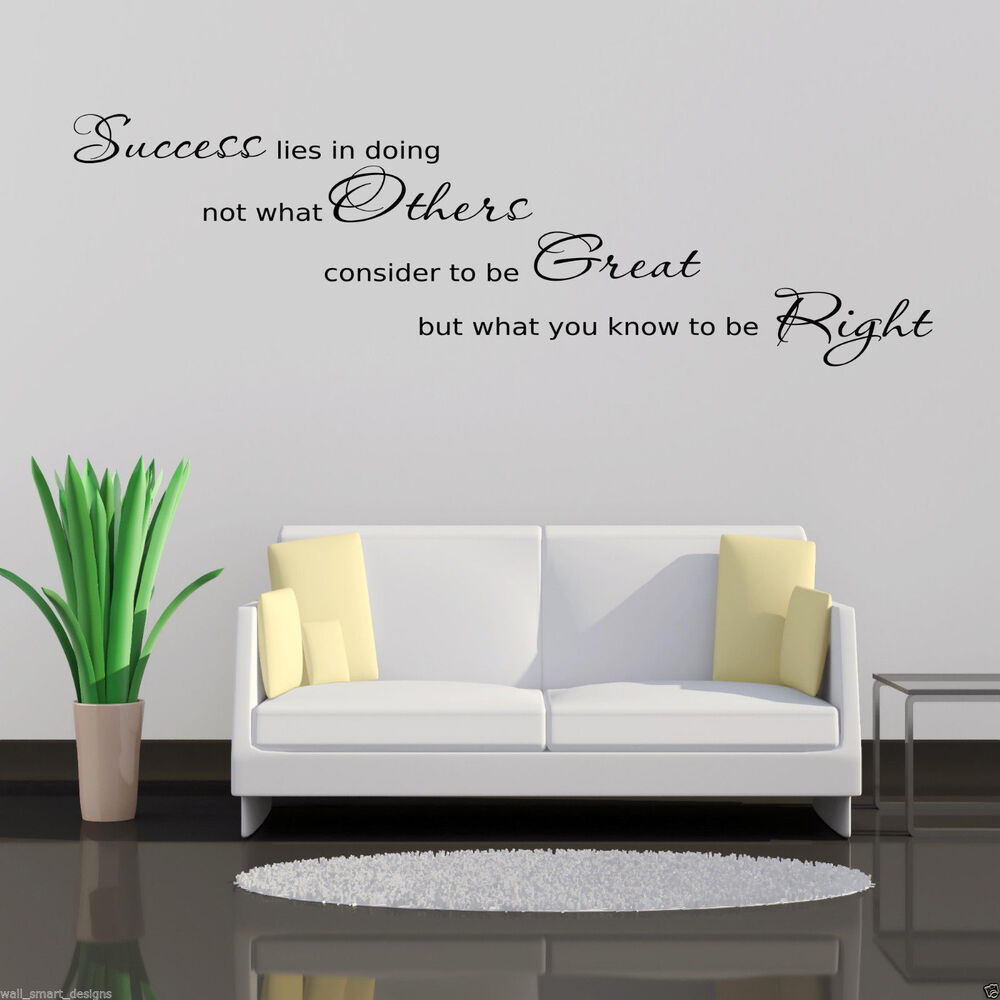 Wall Decor Stickers For Hall : Success office wall art sticker hall lounge quote decal