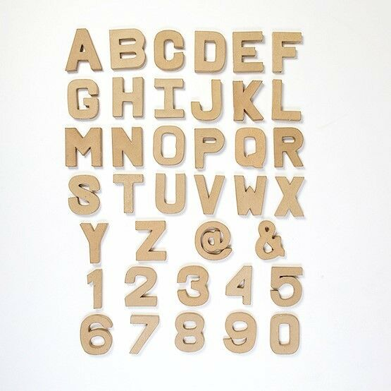 Papier paper mache large small letters numbers for Cheap 3d cardboard letters