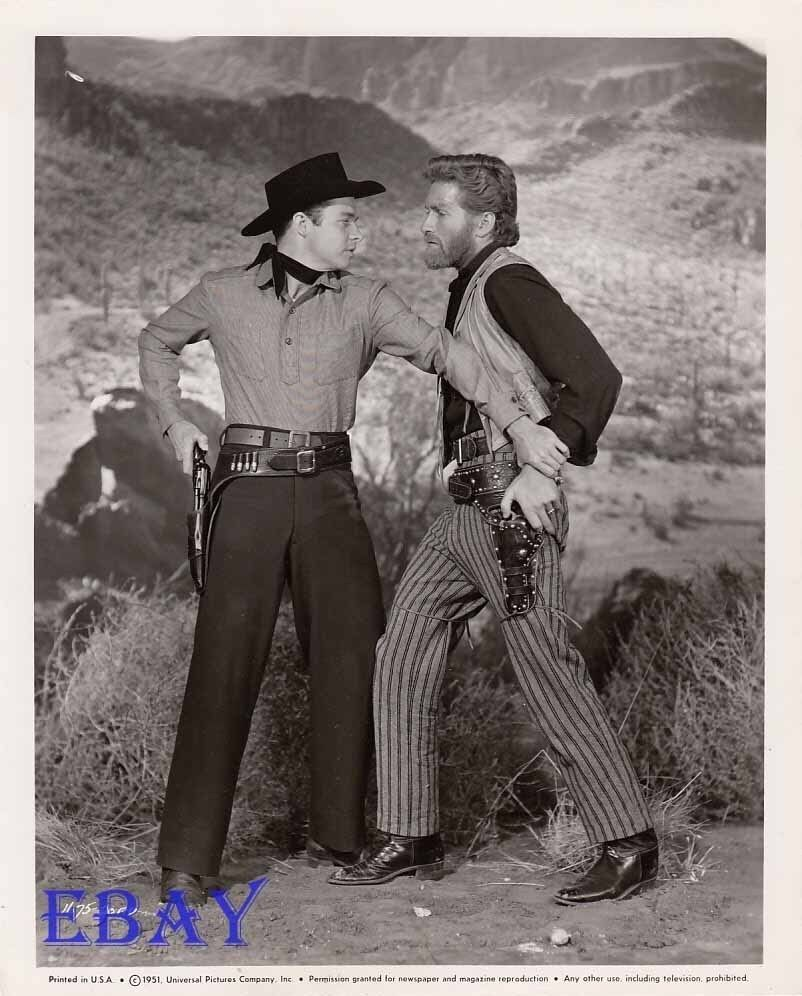 Audie Murphy Hugh O Brian Vintage Photo Cimarron Kid Ebay
