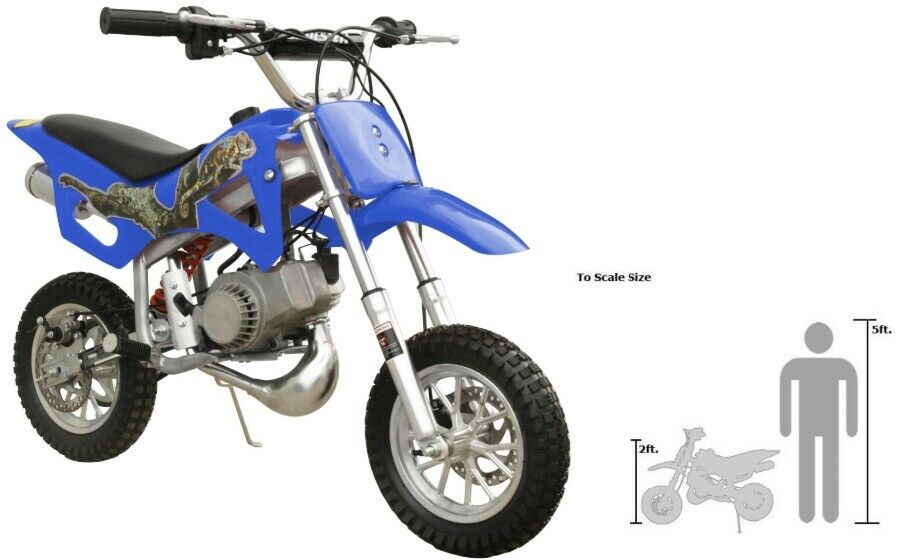 FREE US SHIPPING KIDS 49CC 2 STROKE GAS MOTOR DIRT MINI POCKET BIKE BLUE I DB49A | eBay