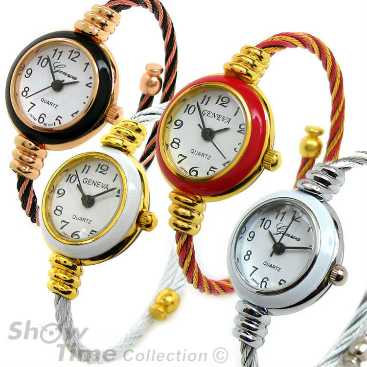 2Tone Cable Band Small Size Geneva Bangle Wrist Watch for ...