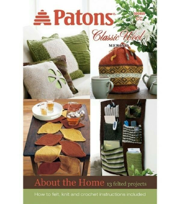 Patons Knitting Pattern Book 500859 ~ About the Home Decor Classic Wool Knit ...