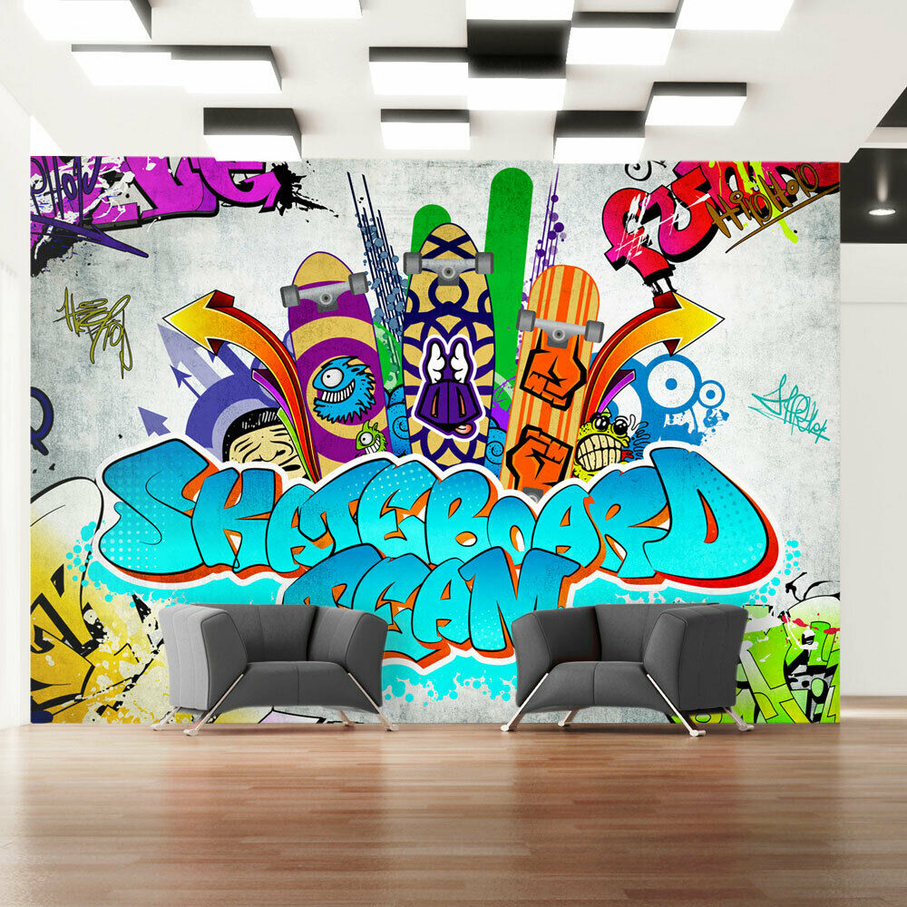 vlies fototapete tapeten xxl wandbilder tapete graffiti. Black Bedroom Furniture Sets. Home Design Ideas