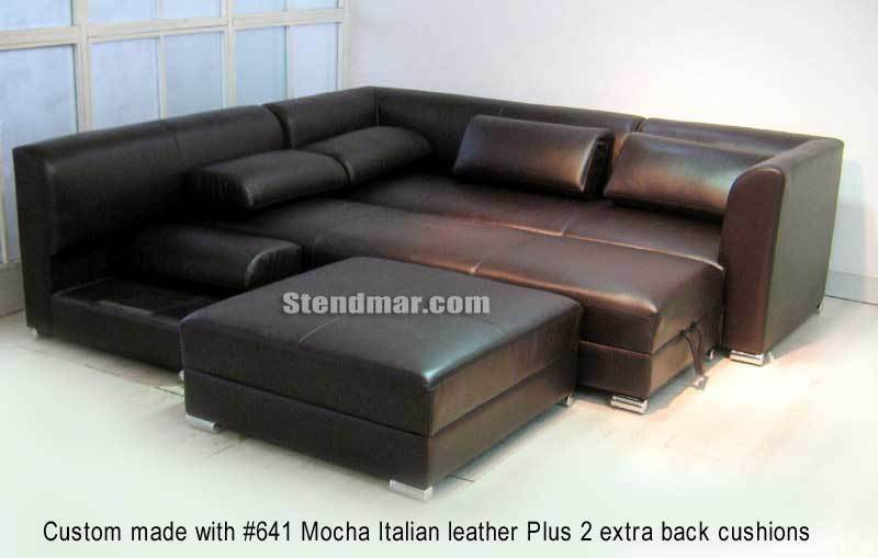 New modern euro design sectional sofa queen bed s1105b for Sectional sofa bed ebay