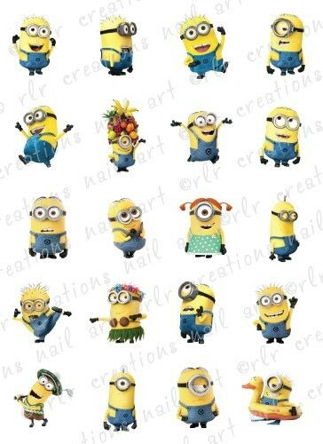 20 NAIL DECALS *DESPICABLE ME 2 MINIONS / 20 DIFFERENT ... Despicable Me Minions Names List