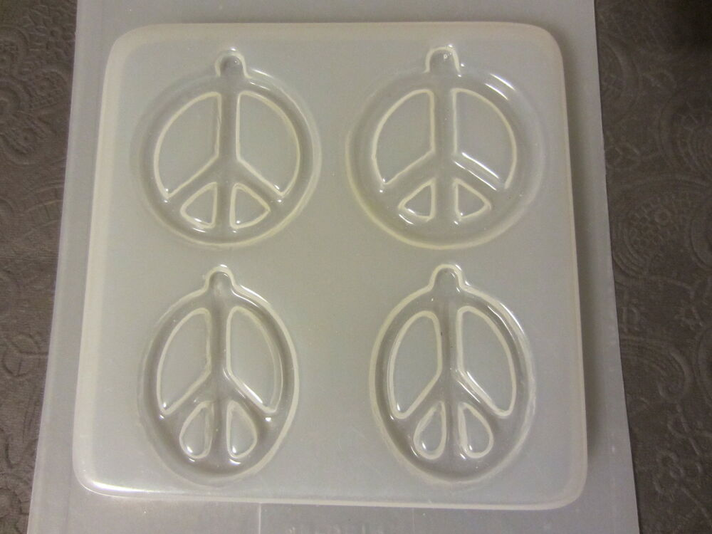Resin Molds Peace Sign Earrings 4 Count Hoops Epoxy ...