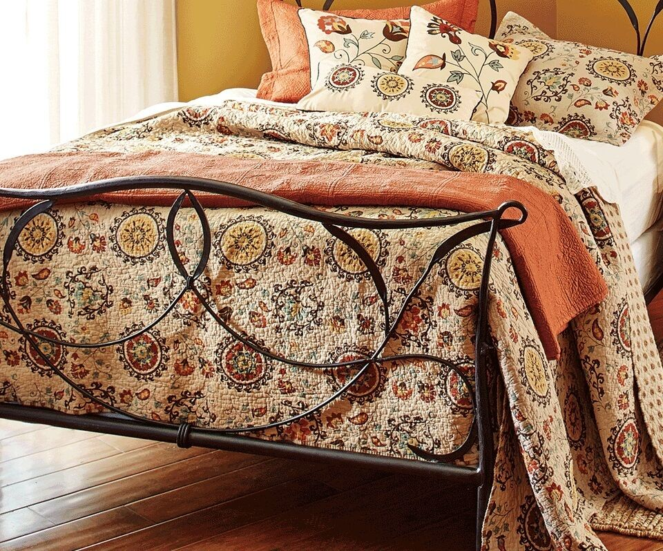 Andorra Mocha Brown King Quilt Set Tuscan Boho