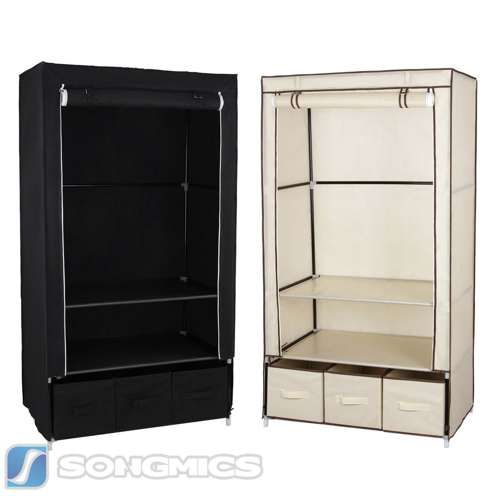 mit 3 schubladen kleiderschrank faltschrank campingschrank. Black Bedroom Furniture Sets. Home Design Ideas