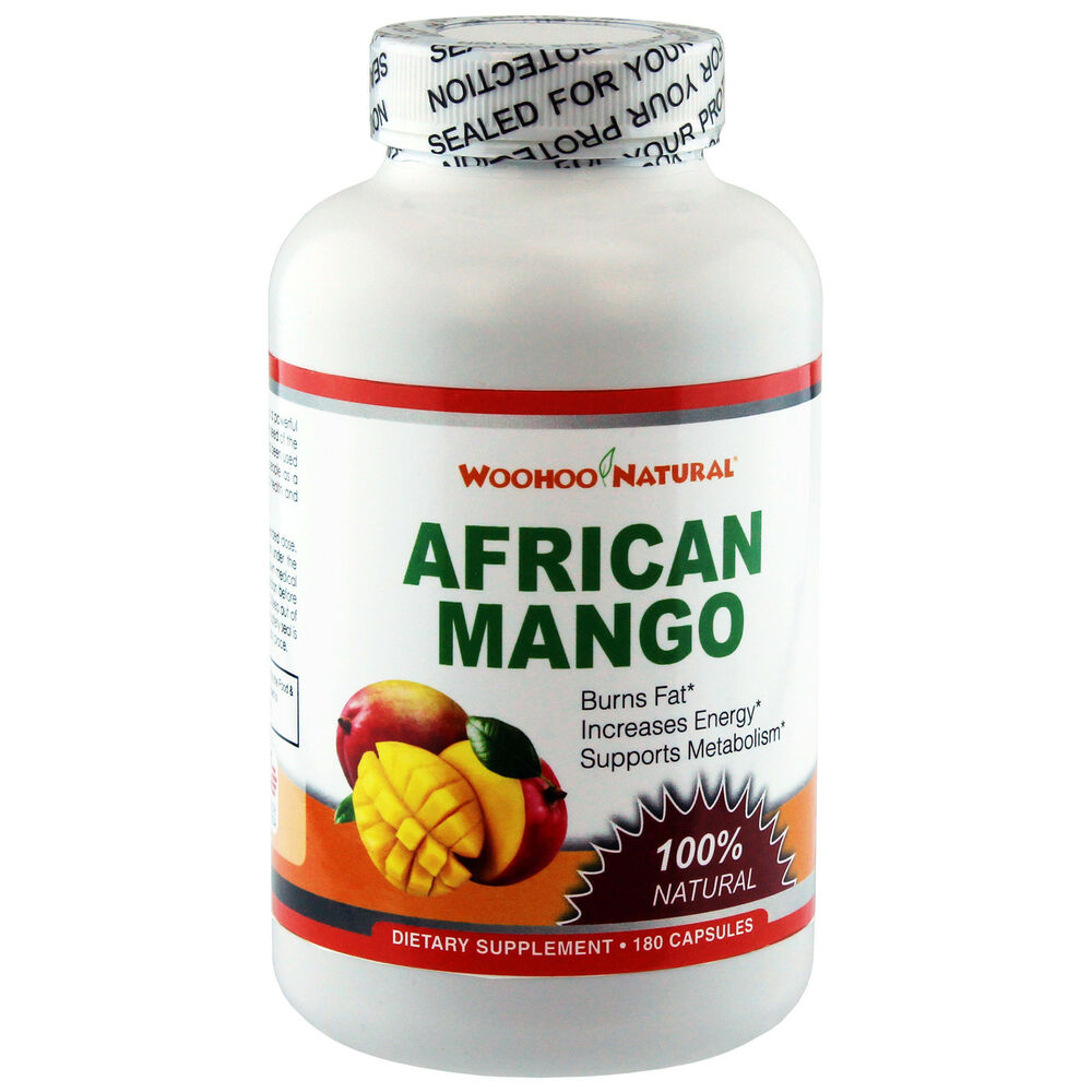 100 natural african mango 1200 extract weight loss diet 180 caps made in usa ebay. Black Bedroom Furniture Sets. Home Design Ideas