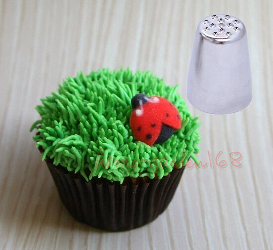 Cake Decorating Tip To Make Grass : New Grass Hair Icing Piping Nozzle Tip Sugarcraft Cake ...