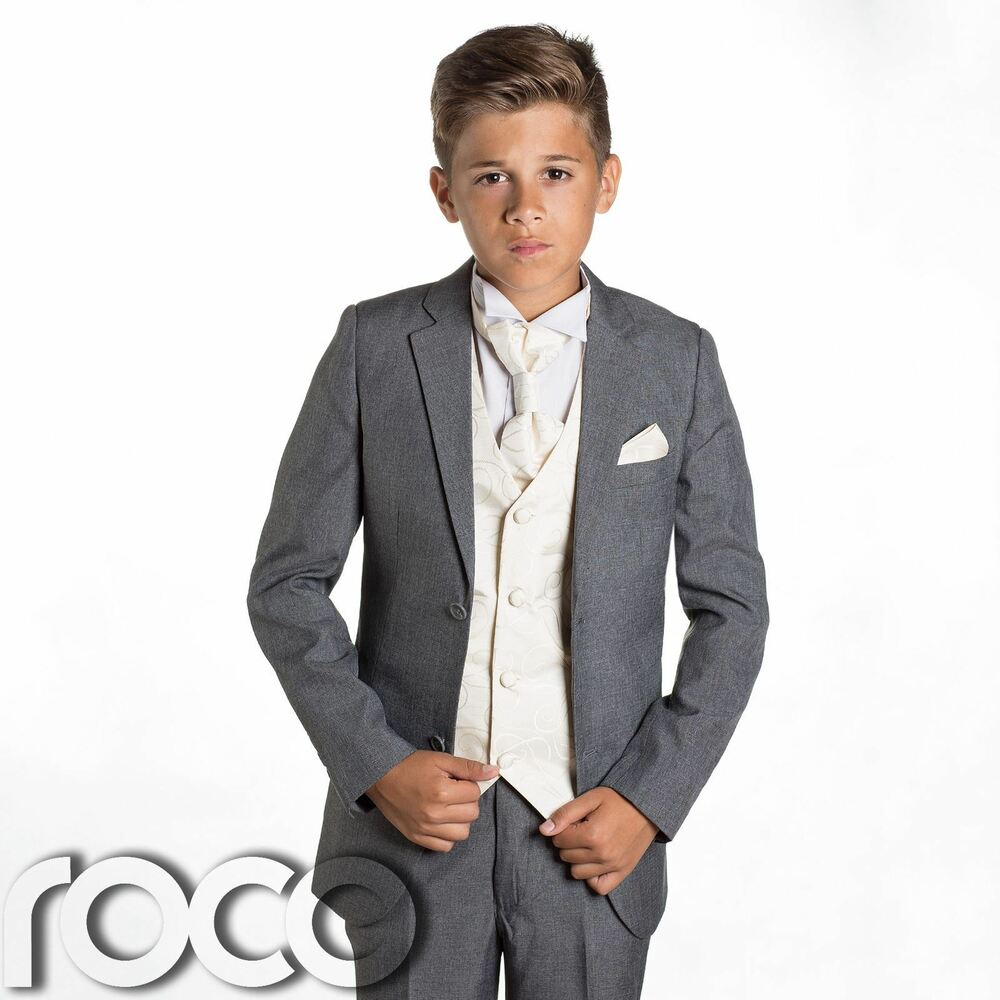 Sute For Formal: Boys Grey Suit, Page Boys Suits, Wedding Suits, Prom Suits