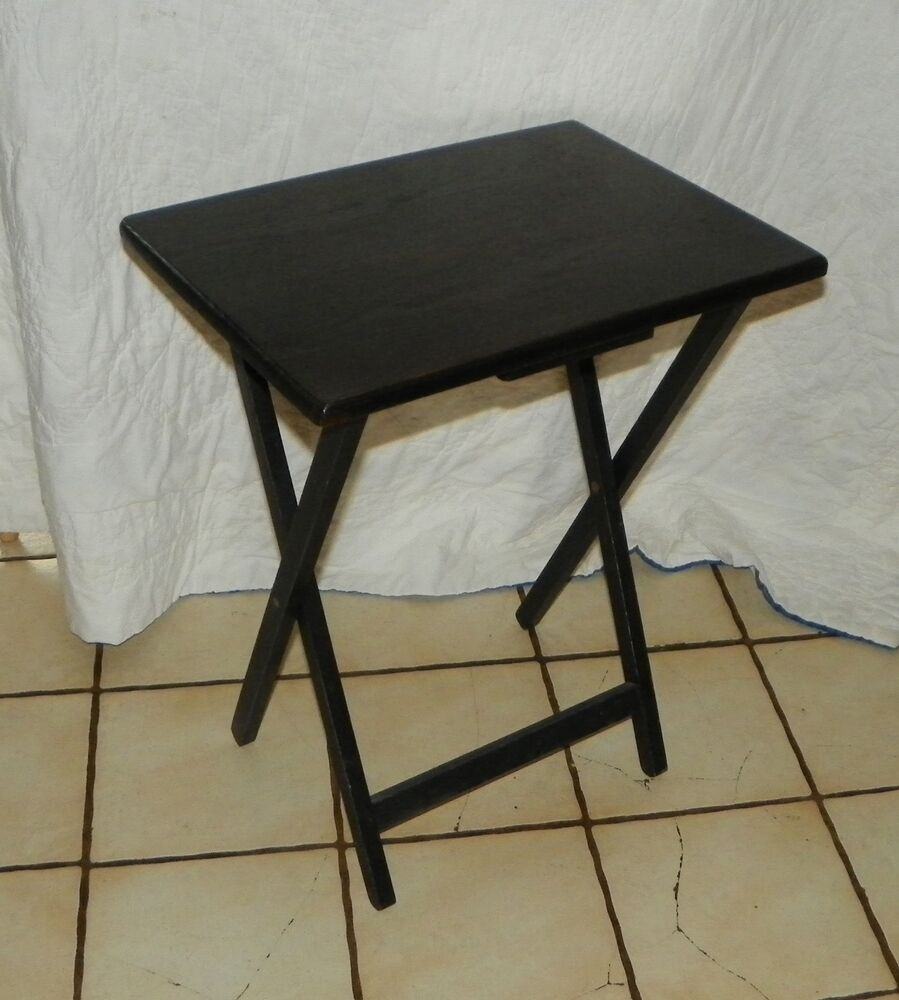 Oak black distressed tv tray table side table t404 ebay for Tray side table